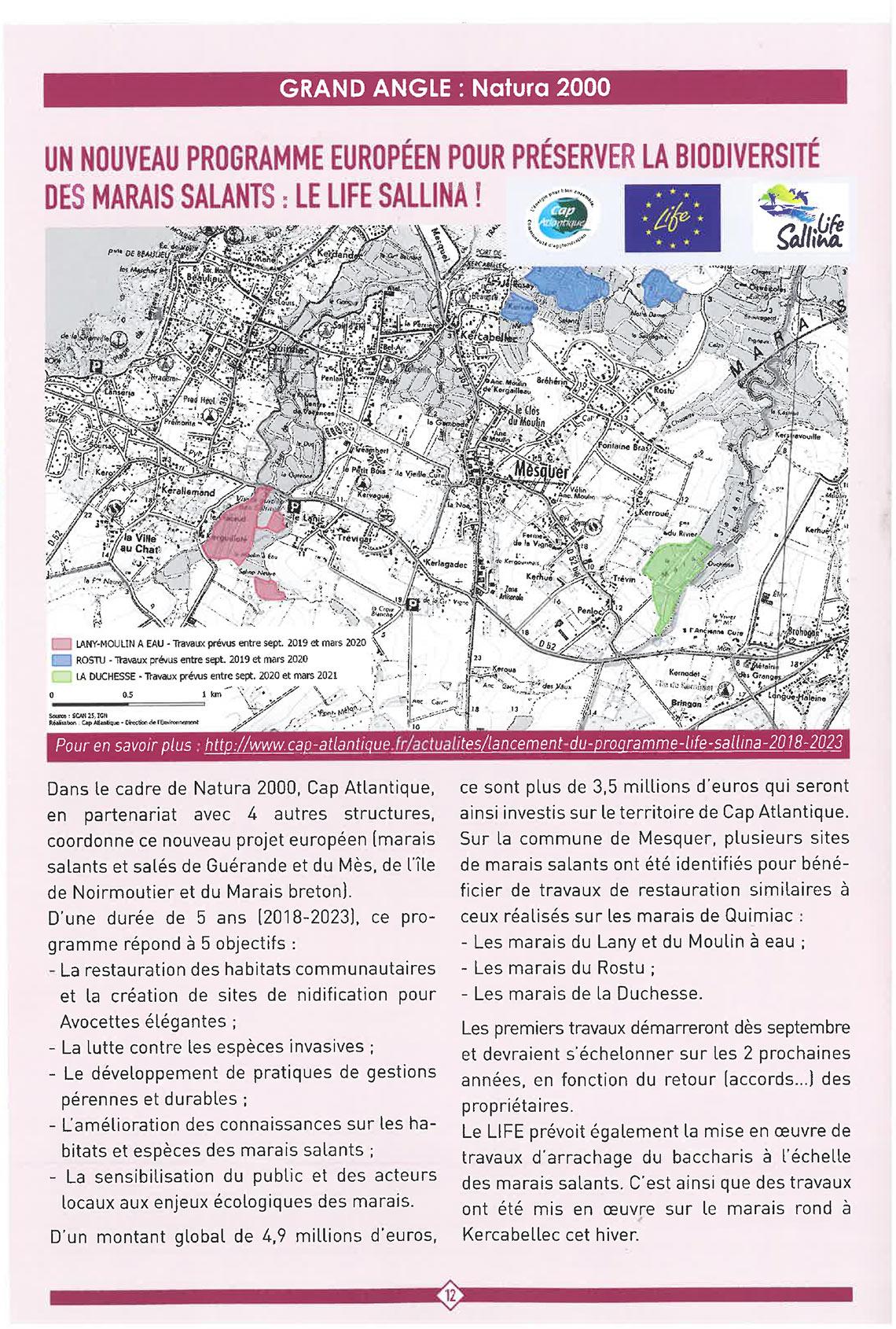 Le Traict de Mesquer - été/automne 2019 n°180 - LIFE SALLINA sur la commune de Mesquer