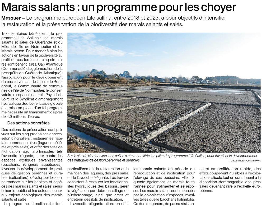 Marais salants : un programme pour les choyer